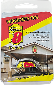 Super8 Motel Kenora Ontario Fishing lure with custom print