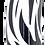 Thumbnail: Retail - Black and White Zebra Bottle Cap Fishing Lure