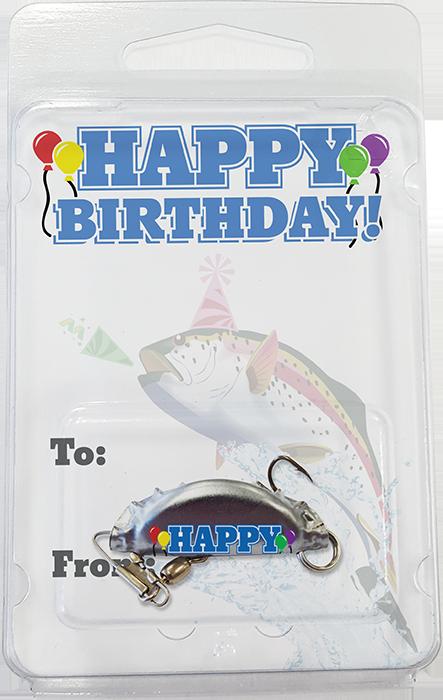 Retail - Happy Birthday Bottle Cap Fishing Lure