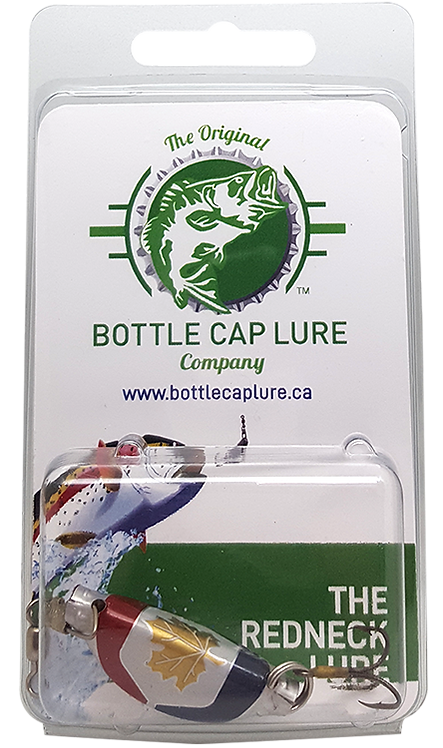 Molson Canadian RWB Beer Bottle Cap Fishing Lure