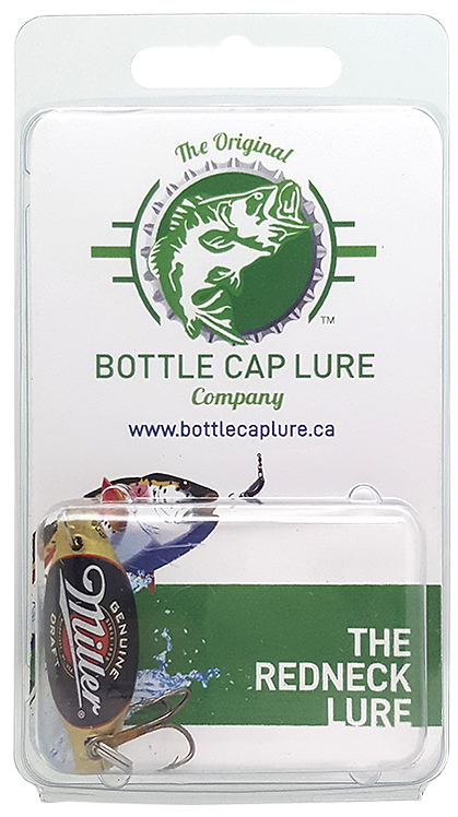Retail - Miller Beer Bottle Cap Fishing Lure