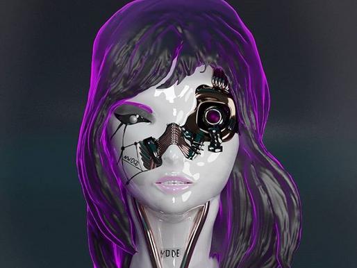 Garota ciborgue, por Nathan Silva