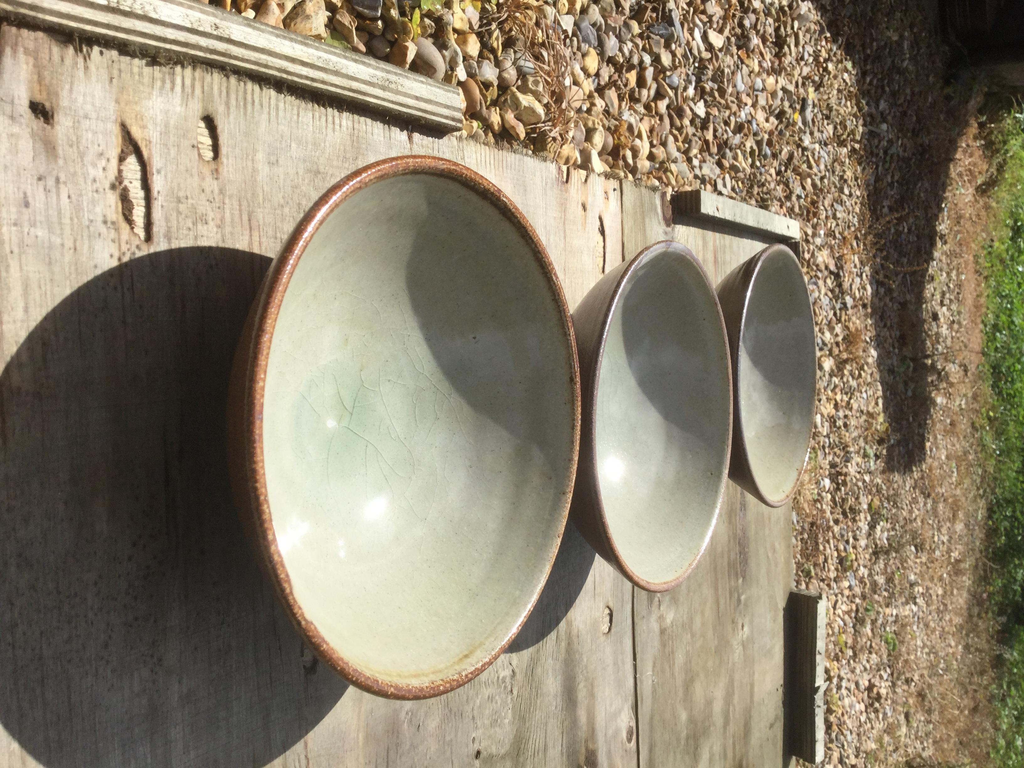 kiln unloading - bowls