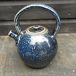 Blue teapot #handmade #stoneware #bluesl