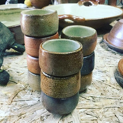 New egg cups #eggcups #pottery #saltglaz