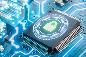 electronic security concept. Data securi