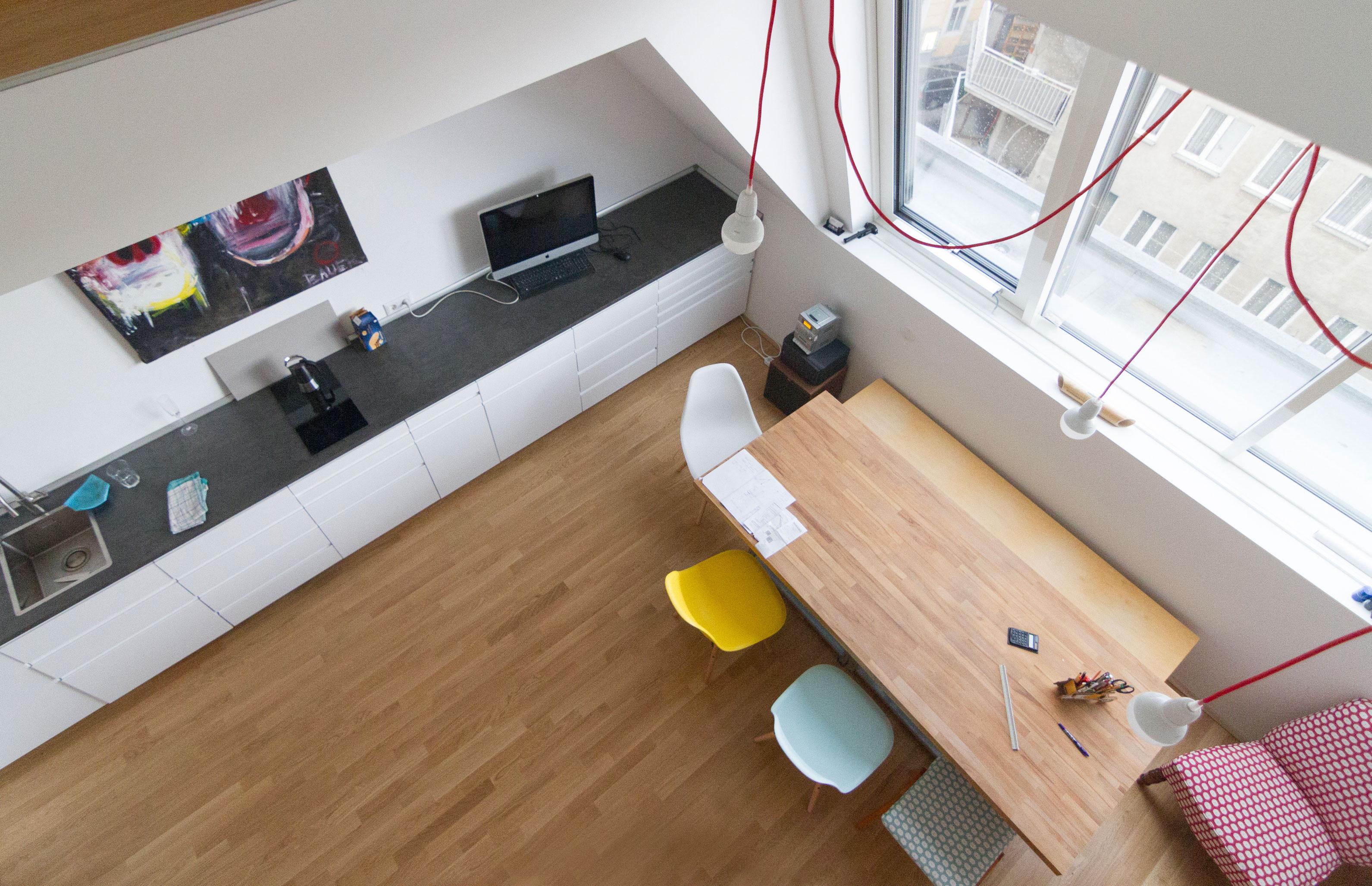 Küche und Besprechung