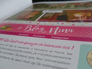 Nina... Et son Blog.