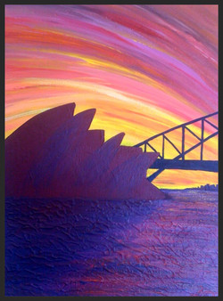 Sunset over Sydney i