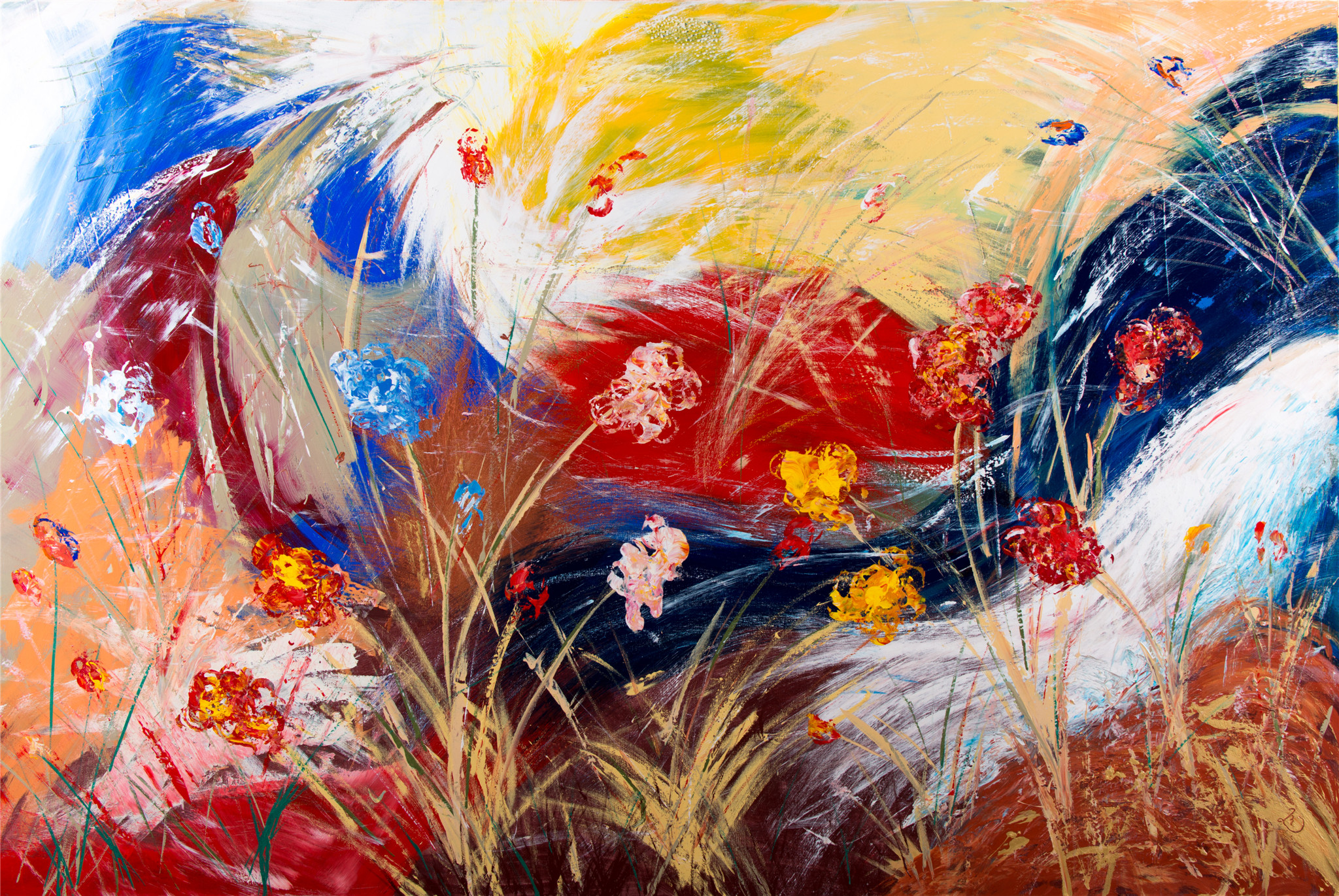 Flowers in the Wind (Not for Sale)