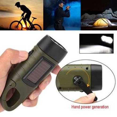 Emergency Hand Crank/Solar Flashlight