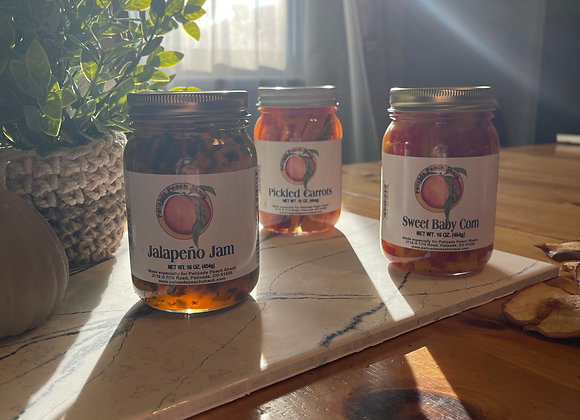 3 Jar Pickle and Veggie  Deal