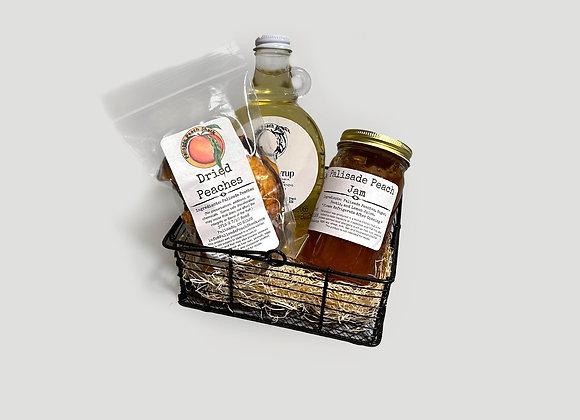 Peach Breakfast Essential Gift Basket