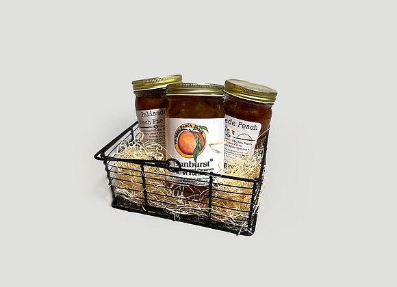 Spicy Peach Trio Gift Basket