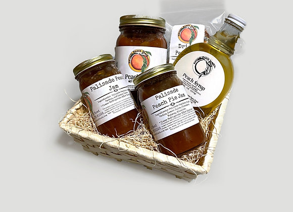 Peach Hodgepodge Gift Basket
