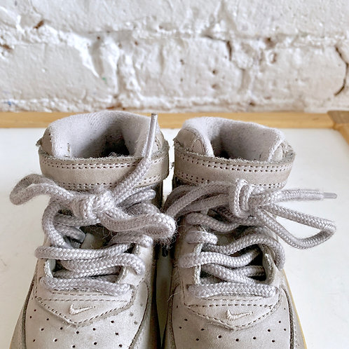 """Dove Grey """"Air Force 1s"""" Sneakers"""