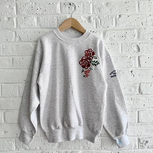 Embroidered Construction Sweatshirt