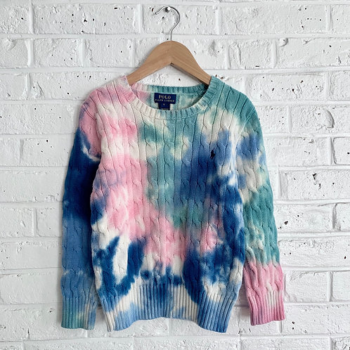 Tie Dye Polo Sweater