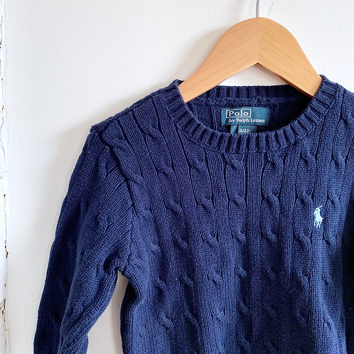 Polo Cable Knit Sweater