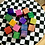 Thumbnail: Hand Dyed Blocks in Tie-dyed Sack