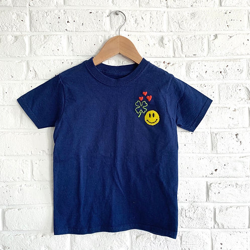 """Smile Cluster"" Embroidered Tee"
