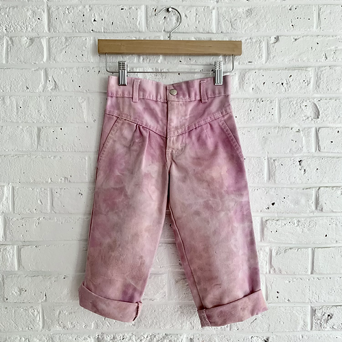 """Vintage """"Pink Smoke"""" High Waisted Trousers"""