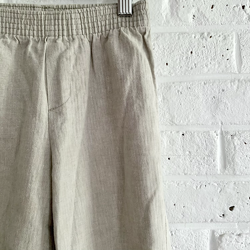 Pull-on Linen Blend Trousers