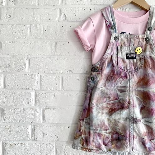 "Tie dye ""Rose Fog"" Denim Dress"