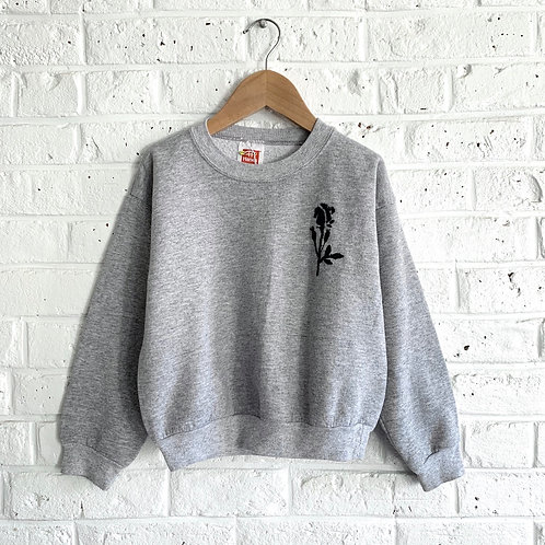 Embroidered Shadow Rose Sweatshirt