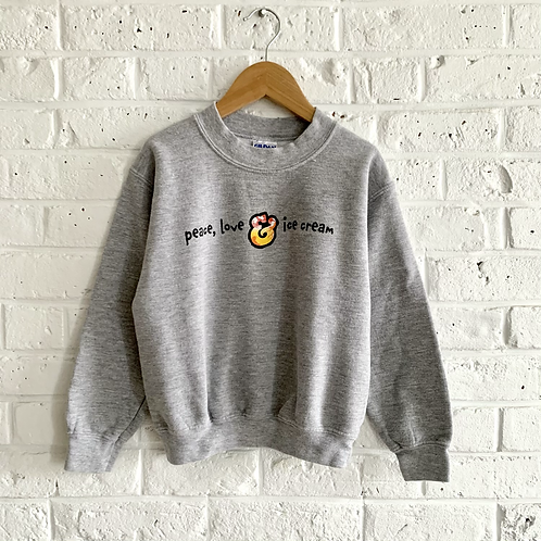"""Peace, Love, & Ice Cream"" Sweatshirt"