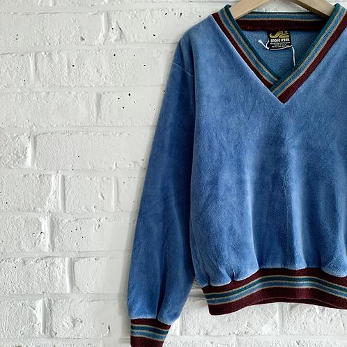 Vintage 80s Velour Pullover