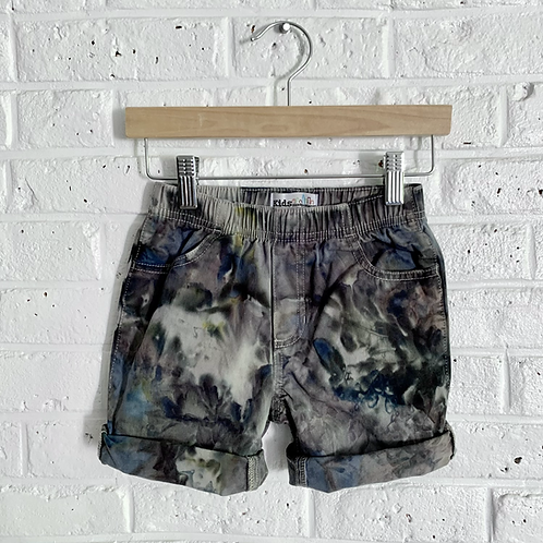 """Pull-on """"Smoked"""" Tie Dye Shorts"""