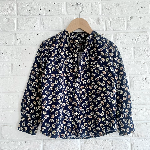 Brushed Paisley Button-up