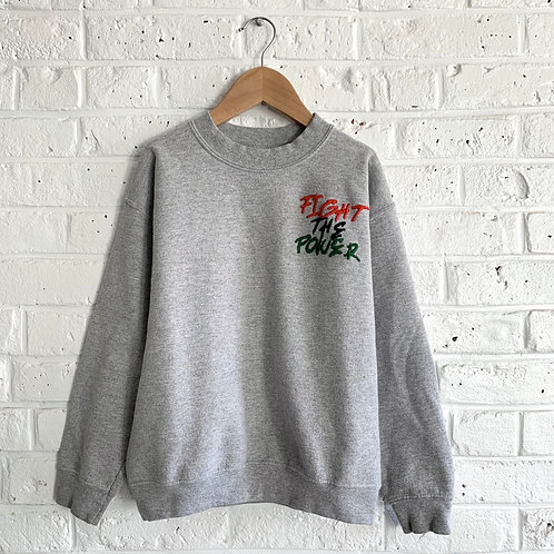 "Embroidered ""Fight The Power"" Sweatshirt"