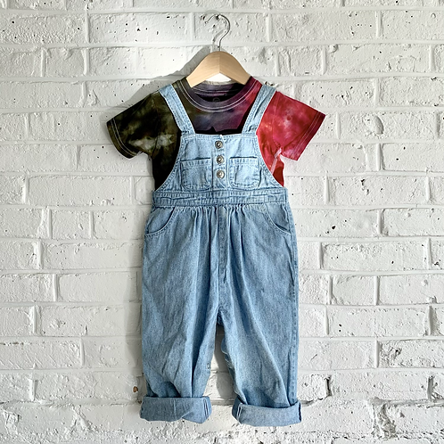 Vintage Button Front Overalls