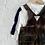 """Thumbnail: Tie dye """"Brown Velvet"""" Cord Overall"""