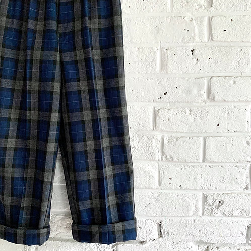 Plaid Pull-on Trousers