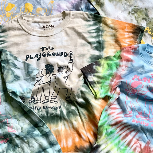 """Dyed """"Playground Friends"""" Tee"""