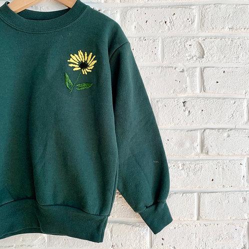 "Embroidered ""Black-eyed Susan"" Sweatshirt"