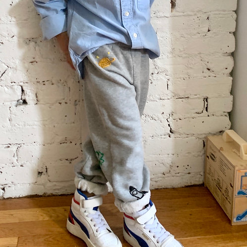 Hand Embroidered Sweatpants