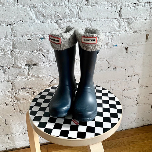 Hunter Rain Boots with Knitted Sock