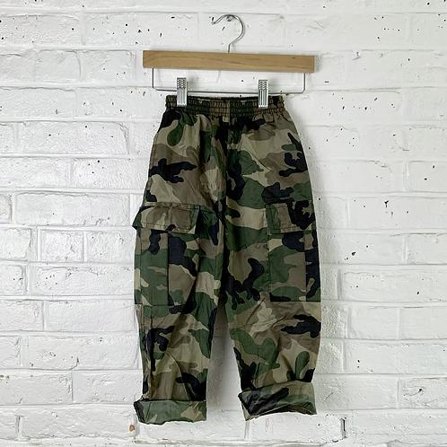 Nylon Camo Cargo Pants
