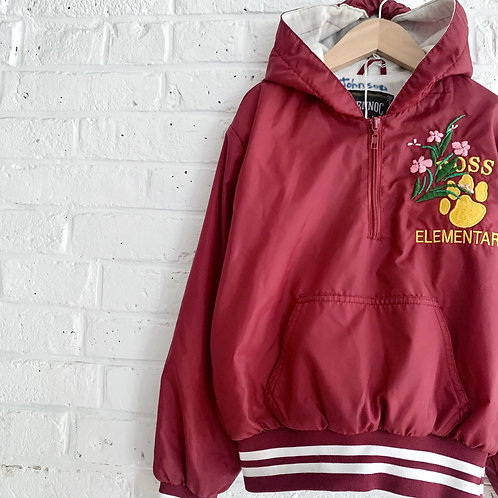 Embroidered Hooded Pullover