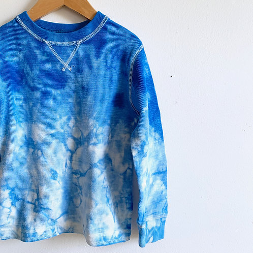 """Blue Skies"" Tie Dye Thermal Tee"