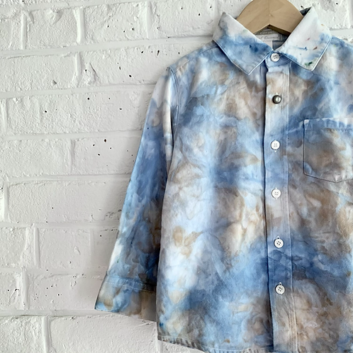 """""""Cloudy Day"""" Tie Dye Button-up"""
