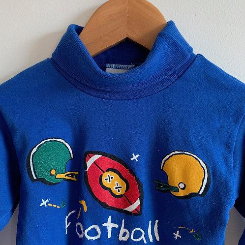 Vintage Turtleneck Football Onesie