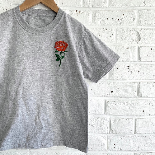 """""""Red Rose"""" Embroidered Tee"""