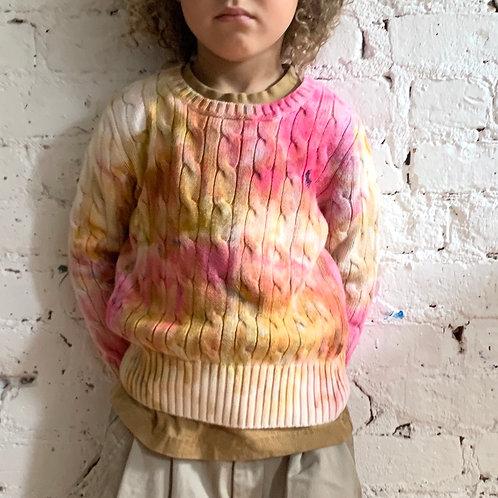 Tie Dye Polo Sweater