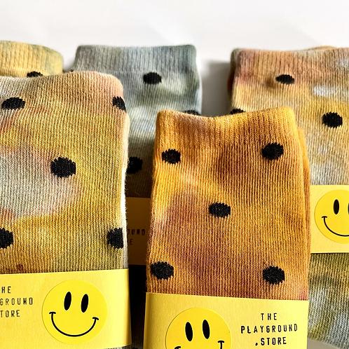Polka Dot Tie Dye Socks