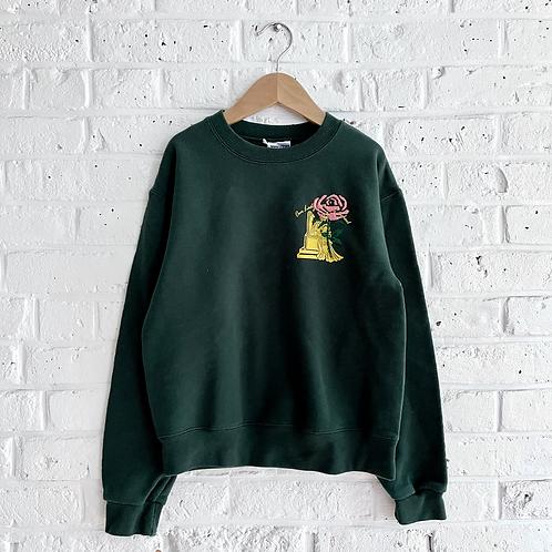Embroidered Rose Sweatshirt